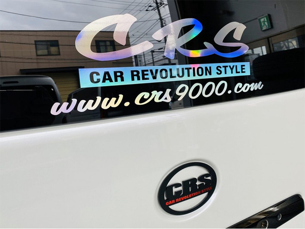 CRS ロゴ&アドレス ホログラムステッカー W435【代引き不可】