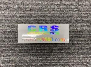 【限定】CRS ロゴ&アドレス ホログラムステッカー(小)