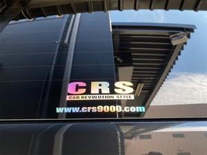 CRS ロゴ&アドレス ホログラムステッカー小(T)