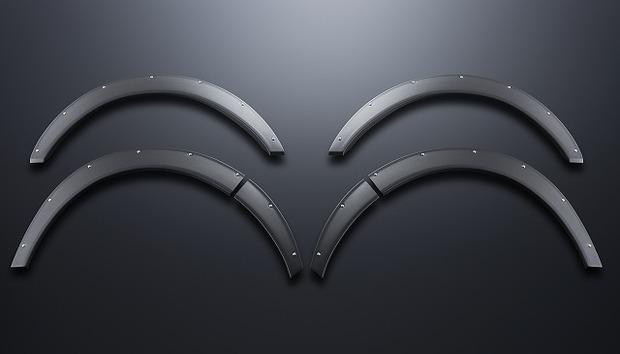 オーバーフェンダー(25mm) ABS製【代引不可】