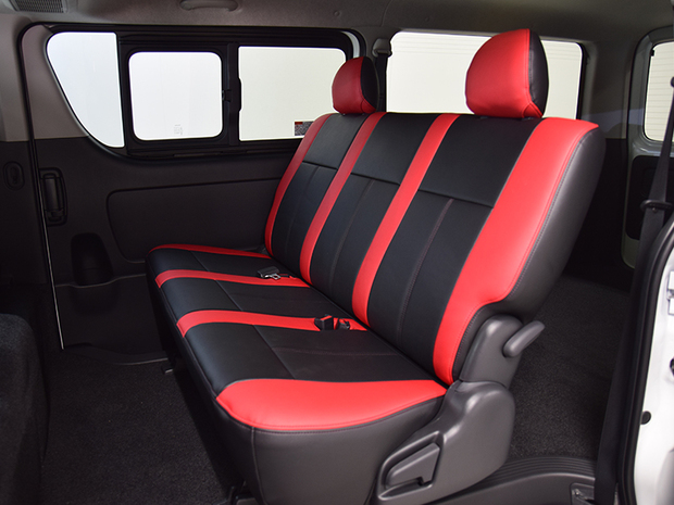 ESSEX S-GL用シートカバー ブラック×レッド