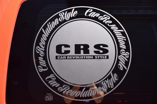 CRS サークルステッカー(大) 470φ 1枚【代引不可】