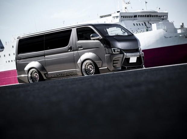 【セット商品】スーパーオーバーフェンダー&ヒンジセット FRP製・未塗装