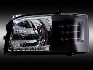 ジュエルヘッドランプシリーズ 1.2型用 クリア/マットブラック