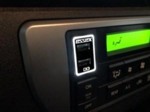 2.1A出力 ヒートシンク付USB充電ポート
