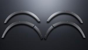 キャラバン用 オーバーフェンダー ABS製 シボ+ピアスボルト【代引不可】